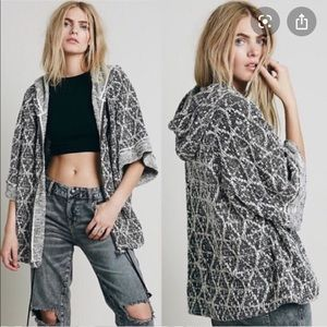Free People Santa Fe Jaquard Full Zip Hoodie